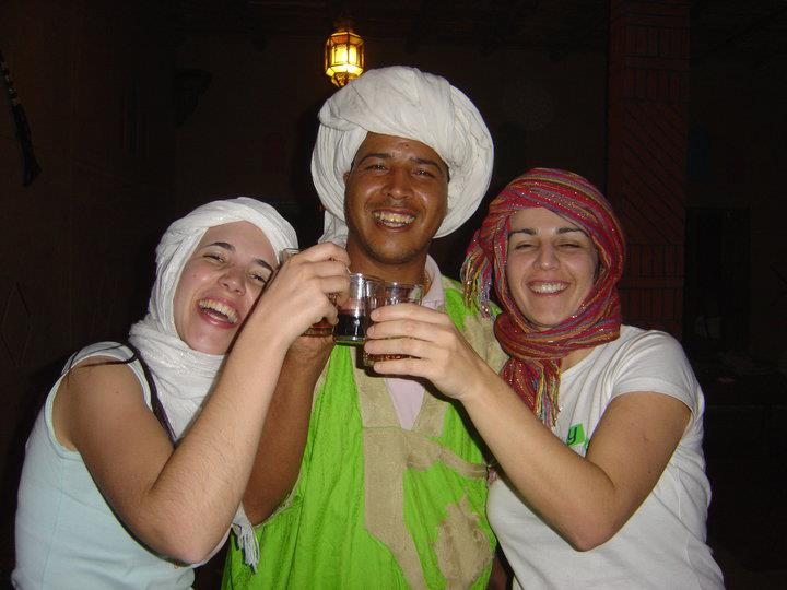 Hafid, Experience Morocco driver, having fun with some of our clientsac