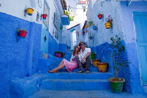 The blue city Chefchaouen Morocco